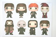 Harry Potter Stickers Planner Stickers Set of 8 for by PSDPlanner
