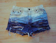 Half Moon: *DIY* Bleached Ombre Shorts