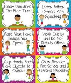- Classroom Rules that are tangible and easy for younger students to understand. Classroom Rules that are tangible and easy for younger students to understand. Classroom Procedures, Classroom Behavior, Future Classroom, Classroom Activities, Classroom Organization, Classroom Management, Preschool Classroom Rules, Behaviour Management, Classroom Setting