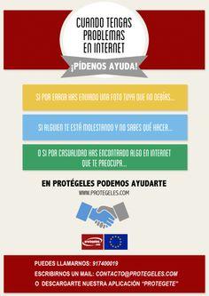 ¿Problemas en #Internet? ¡Nosotros te ayudamos! www.protegeles.com