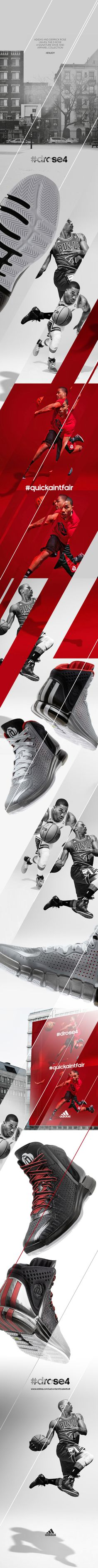 Adidas and Derrick Rose unveil the D Rose 4 signature shoe and apparel collection - this is my personal intake for a Kuwait based client. The D rose line is based on Derrick's distinct on and off-court personalities. #enjoykey visual for press in دولة ا…