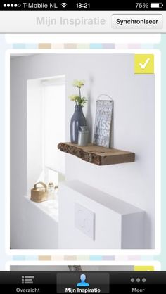 plank voor aan de muur grof onbehandeld hout