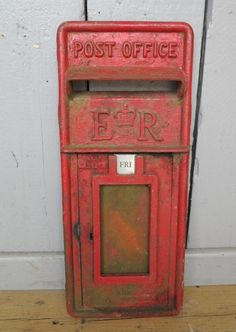 Post Office Red Royal Mail ER Post Box for sale on SalvoWEB from UK Architectural Antiques in  Staffordshire [Salvo code #unique #recliamed #design #garden #postbox #salvolove #reuse