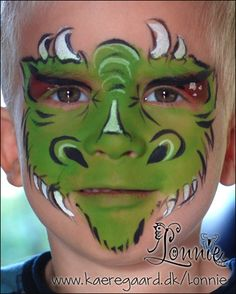 Lonnies Ansigtsmaling - Full face dragon face paint
