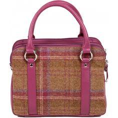 Mala Leather Abertweed Tri Zip Leather Handbag / Grab Bag £78.00 available from www.kubi.co.uk - #tweed #twead #scottish #scotland #tartan #malaleather #mala #leather malaleather #fashion #travel #aw13 #2013 #handbag #handbags #leatherhandbag #leatherhandbags #bag #bags #leatherbag #leatherbags #grabbag #leathergrabbag #gift #gifts #present #presents #office #party #parties #work #dinner #workbag #workbags
