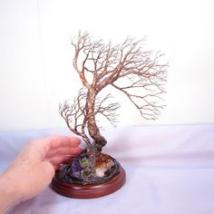Wire Tree wind sculpture Soul Mate Tree Of Life by CrowsFeathers