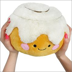 Mini Squishable Cinnamon Bun! All the delicious huggability of its fullsize cousin, in an adorably cute mini size! Woo! #squishable #cinnamonbun #cinnamonroll #plush