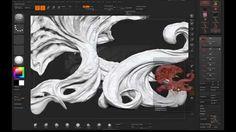 Creating organic Environment with Zbrush, Keyshot and Photoshop