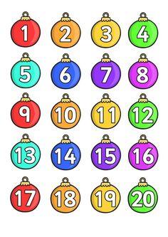 Boże Narodzenie:Kalendarz adwentowy do wydruku 1