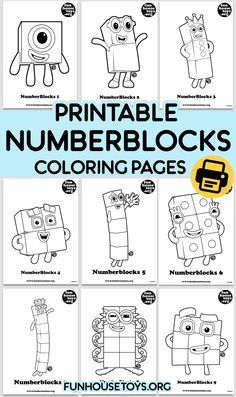 Have some fun with our collection of numberblocks printables. Find Printable Coloring Pages from Numberblocks here. Learning Numbers, Learning The Alphabet, Kids Learning, Fun Printables For Kids, Abc Worksheets, Coloring Sheets For Kids, Kids Education, Elementary Education, Preschool At Home