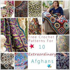 10 Extraordinary Free Afghan crochet patterns | STOP searching and START making. CrochetStreet.com
