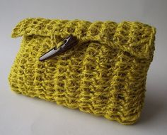 CROCHET BAG PATTERN Clutch Bag Pouch Bag by LiliaCraftParty  #knitting #crochetbag