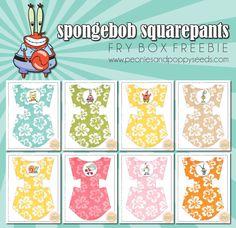 Spongebob Squarepants Fry Box Freebie