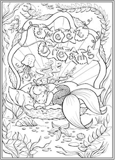 Improbable Welcome to Dover Publications – Little Mermaid Associates Best Picture For Coloring Pages bible For Your Taste You are looking for something, and it. Baby Coloring Pages, Mermaid Coloring Pages, Free Adult Coloring Pages, Fairy Coloring, Disney Coloring Pages, Animal Coloring Pages, Coloring Books, Kids Coloring, Mermaid Pictures