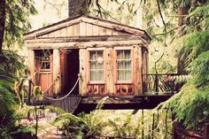 Treehouse Point in Issaquah, Washington. photo by fox in the pine