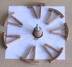 Parts op a wheel.