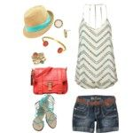 Summertime and the livins easy.  Teal tribal polyvore.
