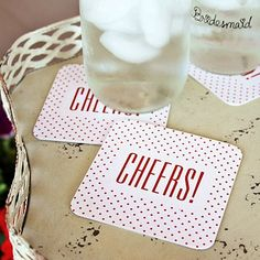 """Cheers!"" Glitter Coasters (Package of 25)"