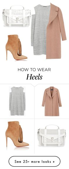 """""""#heels"""" by faye-valentine on Polyvore featuring Christian Louboutin, Zara, Rochas and Proenza Schouler"""