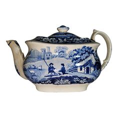 Staffordshire 18th C. William Davenport Tea Pot