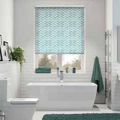 If you're looking for something that speaks fun and brings a whole lot of personality to your bathroom, then this Splash Samaki Aqua roller blind is a fine choice.