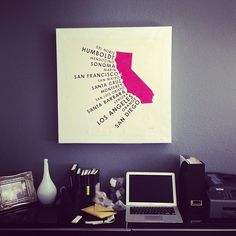 california poster on canvas