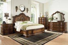 Shop Legacy Furniture Pemberleigh Walnut Master Bedroom Set with great price, The Classy Home Furniture has the best selection of to choose from Master Bedroom Set, Kids Bedroom Sets, King Bedroom, Bedroom Ideas, Master Suite, Bedroom Decor, Bedroom Stuff, Gold Bedroom, Home Design