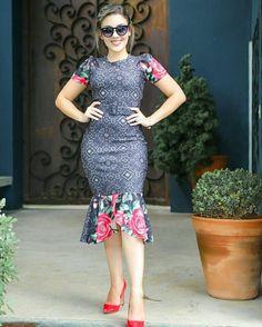 Vestido Tubinho Peplum Dress em Piquet - Moda Evangélica - Flor de Amêndoa
