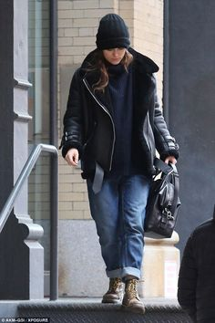 Coming to a close:Keira Knightley looked prepared for the end as she stepped out of the R...