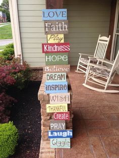 custom meaningful words reclaimed wood sign
