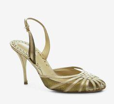 Bottega Veneta Gold Slingback