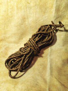 10 metre long rope, made from 3 elk hide.