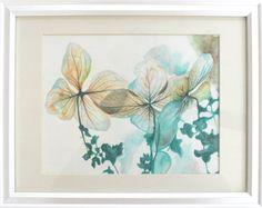 Original Watercolor Painting Hyrdrangea Oak by SingingBirdsArt
