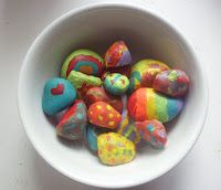 Hidden Rocks Happy Surprise, Have kids paint rocks, take a walk around the neighborhood and put the rocks in various places for other people to find, thinking it was a creative way to brighten someone's day and to welcome in spring! A fun way to spend an afternoon and put a smile on the faces of others!