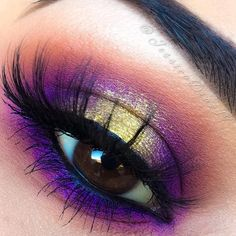 purple & gold halo eye @jessicadiaz19 #colorful spotlight makeup