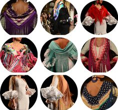 mantoncillos2 Spanish Culture, Flamenco Dancers, Spanish Style, Beautiful Dresses, Shawl, Hair Beauty, How To Wear, Blouse, Tops