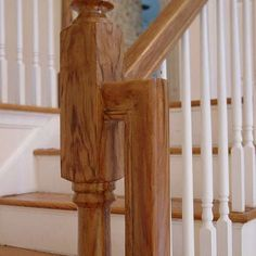 After wood graining - this finish on this newel post was done entirely by hand.