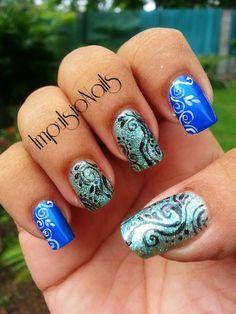 Nail art Arabesques magiques