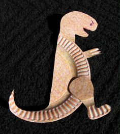 Large Paper Plate T-Rex. Library Craft 2013.