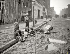 Americans during the Great Depression (not 19th century, but evocative of poverty & misery then)