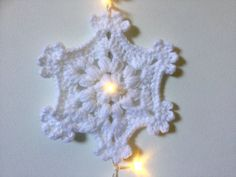 10 led lights with big snowflakes fairy lights by MariskaPatterns