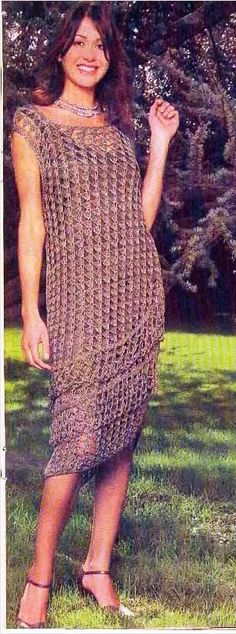 Mesh Dress free crochet pattern