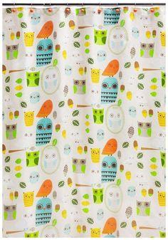 Give a Hoot Owl Shower Curtain and Bath Accessories by Creative Bath Owl Bathroom, Bathroom Ideas, Bathroom Things, Bathroom Stuff, Basement Bathroom, Bath Ideas, Shower Curtains Walmart, Owl Shower, Shower Set