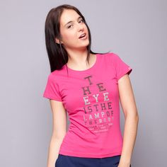 The Eye Is The Lamp Pink Tee