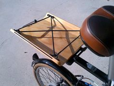 Cargo Cradle 12: Bike / Bicycle Wood / Wooden Crate / Basket / Cargo Accessory for Rear Racks