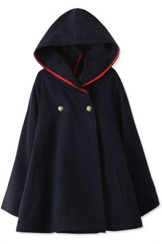 Essential Fashion #Hooded #Woolen #Cape - OASAP.com