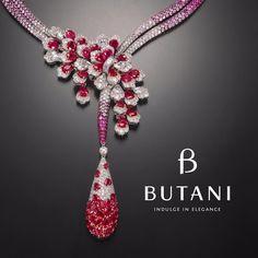 Butani Ruby and Diamond Necklace