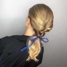 Belle. Twists. Hair up. UpDo. Low Pony. Bow. Blonde. Disney Inspired, Twists, Up Hairstyles, Updos, Pony, Chelsea, Hair Styles, Inspiration, Beauty