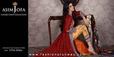 Asim Jofa Luxury Lawn Summer Collection 2014   Fashions Runway