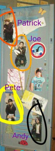 Sam Puckett icarly locker aka FALL OUT BOY IS IN IT !!!!!!!!!!!!!